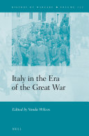 Italy in the Era of the Great War