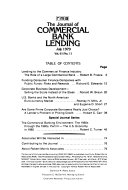 The Journal of Commercial Lending