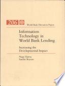 Information Technology in World Bank Lending