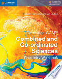 Books - Cambridge Igcse� Combined And Co-Ordinated Sciences Chemistry Workbook | ISBN 9781316631058