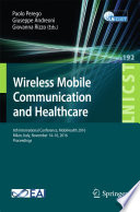 Wireless Mobile Communication and Healthcare Book