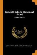 Rom  o Et Juliette  Romeo and Juliet