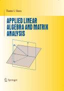 Applied Linear Algebra and Matrix Analysis [Pdf/ePub] eBook