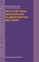 Multicriteria Decision Aid Classification Methods
