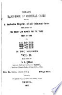 Desai's Hand-book of Criminal Cases: 1900-1906 by  PDF