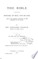 The Bible In The Light Of Nature Of Man And Of God