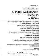 Proceedings of the ASME Applied Mechanics Division Book