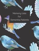 Memory List For Dementia Patients