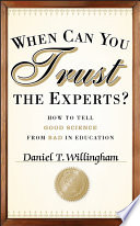 When Can You Trust the Experts