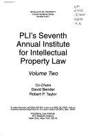 PLI s     Annual Institute for Intellectual Property Law