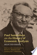 Paul Samuelson On The History Of Economic Analysis
