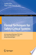 Formal Techniques for Safety Critical Systems