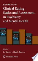 Handbook of Clinical Rating Scales and Assessment in Psychiatry and Mental Health Book