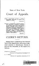 NY Bar Assn. Court of Appeals 1891 1st Division Vol. 57