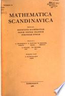 Mathematica Scandinavica