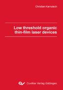 Pdf Low Threshold Organic Thin Film Laser Devices