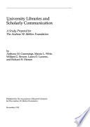 University Libraries and Scholarly Communication
