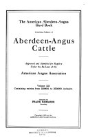 Pdf The American Aberdeen-Angus Herd-book