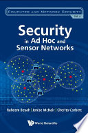 Security in Ad Hoc and Sensor Networks Book