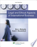 Legal And Ethical Aspects Of International Business