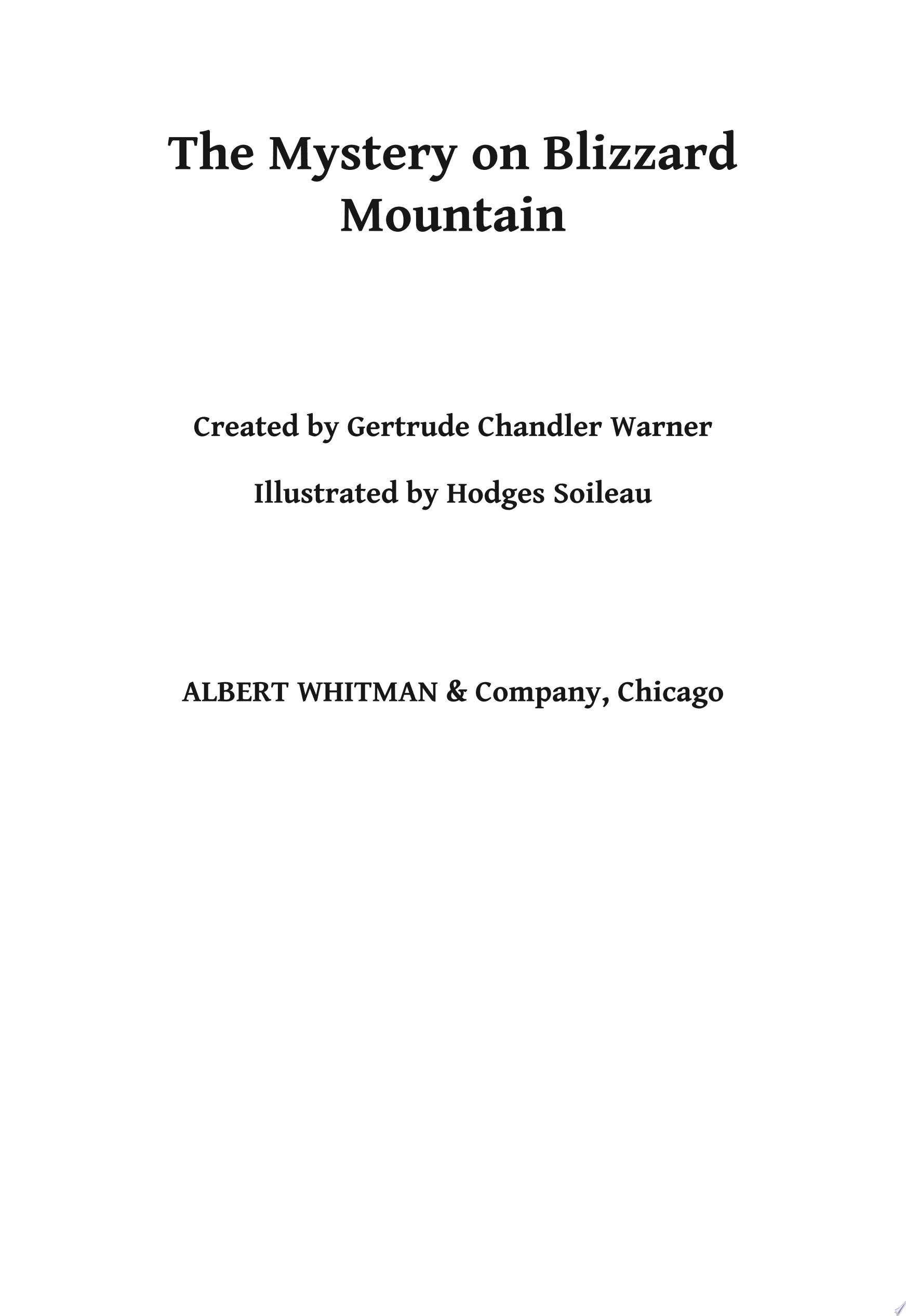 Mystery on Blizzard Mountain