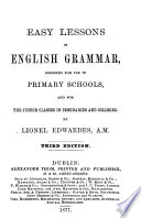Easy lessons in English grammar