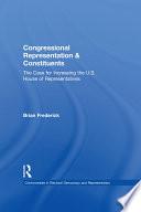 Congressional Representation and Constituents