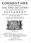 Commentaire Litteral Sur Tous Les Livres De L'Ancien Et Du Nouveau Testament ebook