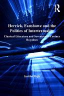Herrick, Fanshawe and the Politics of Intertextuality Pdf/ePub eBook