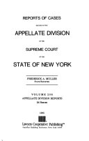 Reports of Cases Decided in the Appellate Division of the Supreme Court of the State of New York Book PDF