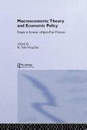 Macroeconomic Theory and Economic Policy Pdf/ePub eBook