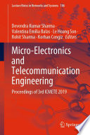 Micro-Electronics and Telecommunication Engineering