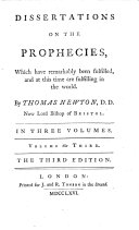 Dissertations on the prophecies     The third edition