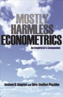 Pdf Mostly Harmless Econometrics
