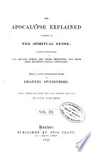 The Apocalypse Explained According to the Spiritual Sense Book