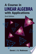 A Course in Linear Algebra with Applications