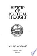 History of Political Thought  , Volume 23,Edições 3-4