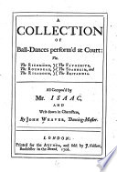A Collection of Ball Dances Perform d at Court Book PDF