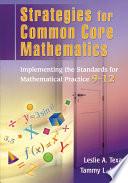 Strategies for Common Core Mathematics