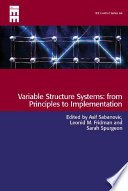 Variable Structure Systems Book