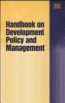 Handbook On Development Policy And Management