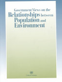 Government Views on the Relationships Between Population and Environment