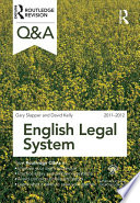 Q&A English Legal System 2011-2012