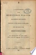 A Catalogue of the Medicinal Plants