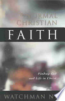 The Normal Christian Faith Book PDF
