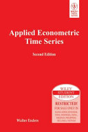 APPLIED ECONOMETRIC TIME SERIES  2ND ED