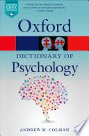 A Dictionary of Psychology Book