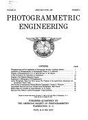 Photogrammetric Engineering