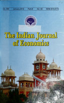 Indian Journal of Economics