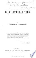 Our Peculiarities